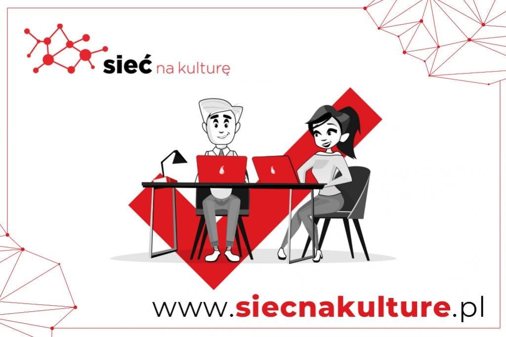 obrazek przedstawia logo projektu Sieć na Kulturę